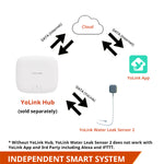 YoLink Smart Water Leak Sensor 2 with Cable Sensor Works with Alexa and IFTTT, YoLink Hub Required