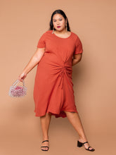 Load image into Gallery viewer, THE EVERYDAY RUCHED DRESS - Henna