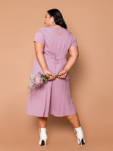 THE EVERYDAY RUCHED DRESS - Orchid