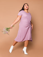 Load image into Gallery viewer, THE EVERYDAY RUCHED DRESS - Orchid