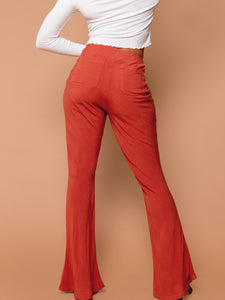 THE TIED SLIM FLARE PANT ~ Henna