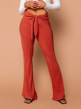 Load image into Gallery viewer, THE TIED SLIM FLARE PANT ~ Henna