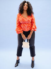 Load image into Gallery viewer, THE RUFFLE SLEEVE TOP ~ VALENTINE  ~ Final Sale