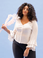 Load image into Gallery viewer, THE RUFFLE SLEEVE TOP ~ VALENTINE