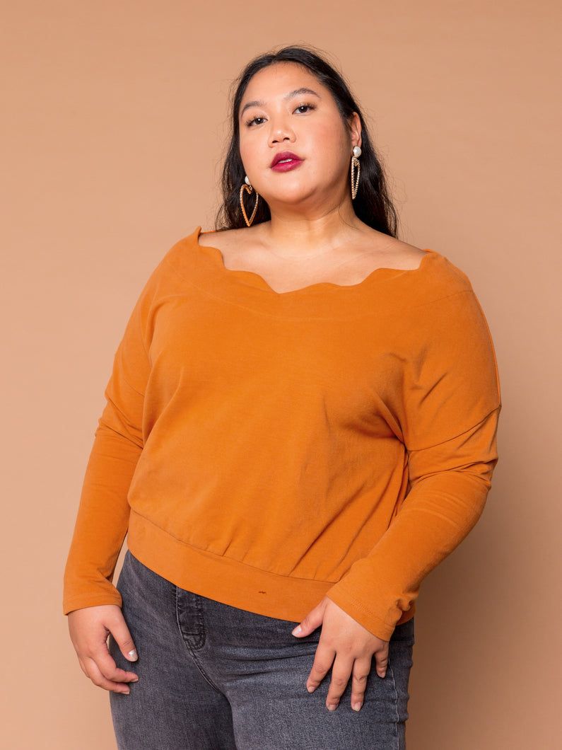 THE WAVY BABY PULLOVER -  Pecan