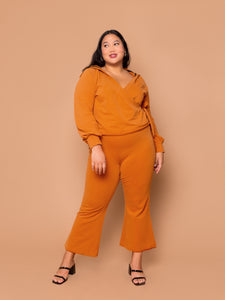 THE KICK FLARE SWEAT PANT ~ Pecan