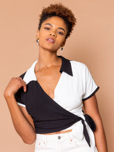 Load image into Gallery viewer, THE BOWLER WRAP TOP ~ YinYang