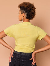 Load image into Gallery viewer, THE BOWLER WRAP TOP ~ Pear