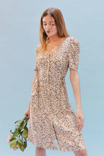 Load image into Gallery viewer, THE DOUBLE LACEUP DRESS ~ NIGHT GARDEN