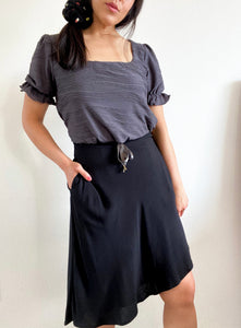THE TIE WAIST SKIRT ~ BLACK (FINAL SALE)