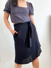 Load image into Gallery viewer, THE TIE WAIST SKIRT ~ BLACK (FINAL SALE)