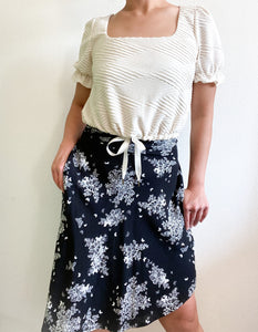 THE TIE WAIST SKIRT ~ FLUTTER (FINAL SALE)