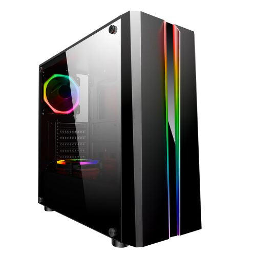 Zoom ATX Gaming PC Case With Tempered Glass Window