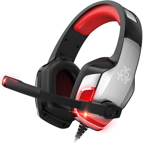 Hunter Spider Red Wired Gaming Headset