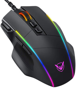 Pictek RGB Wired Gaming Mouse, Black