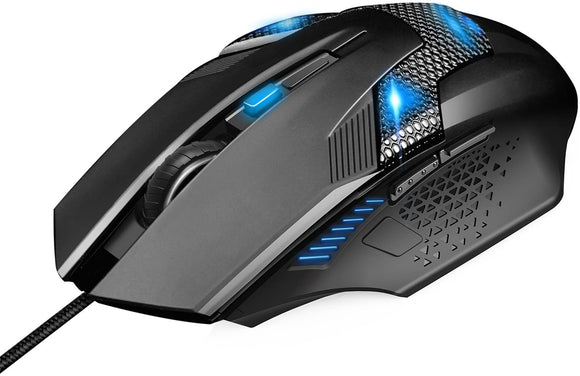 Tecknet RGB Wired Gaming Mouse, Black