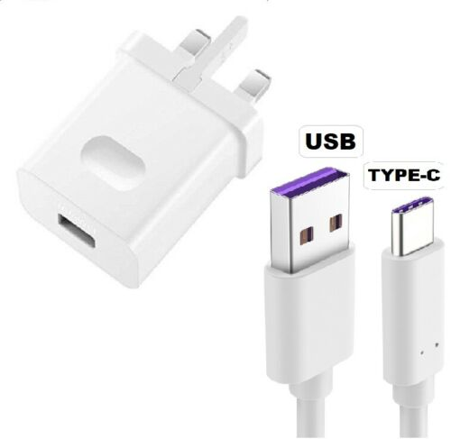 1 Amp Mains + Type C USB Cable