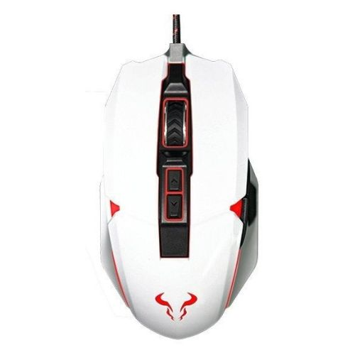 Riotoro AUROX Prism Wired RGB Gaming Mouse, White