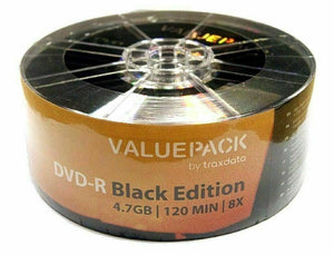 Traxdata Value Pack Black Edition DVD-R (25 pack)