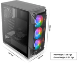 Antec DF600 Flux Gaming PC Case with Tempered Glass Window