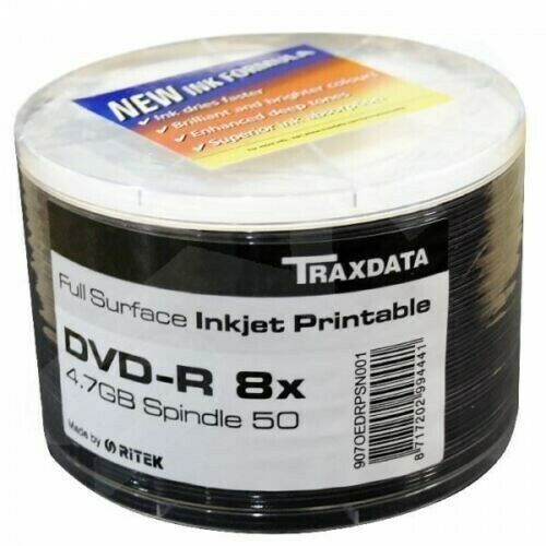 Traxdata Printable DVD-R (50 pack)