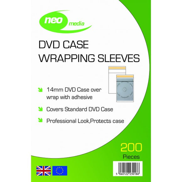 Large CD / DVD Plastic Sleeves 200pk
