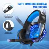 Beexcellent GM-20 Gaming Headset, Blue & Black