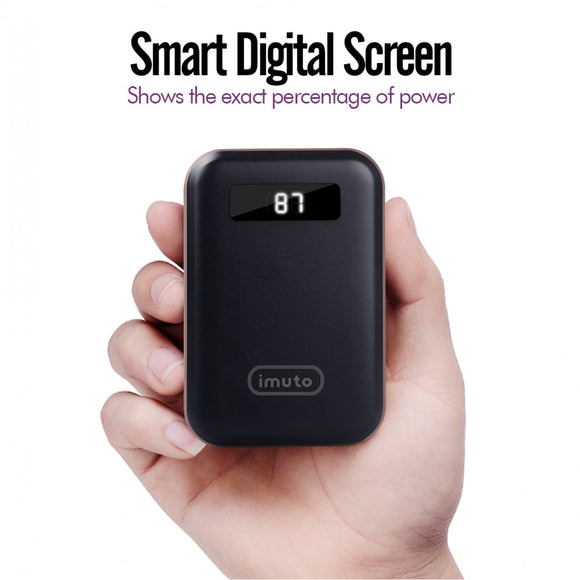 iMuto Power Bank 10000mAh Power Bank with LED Digital Display