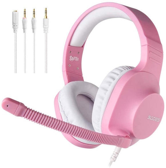 Sades Spirits Angel Edition Gaming Headset, Pink