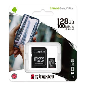 Kingston 128GB Micro SD Card with SD Adapter