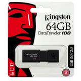 Kingston 64GB USB 3.1 Memory Pen, DataTraveler 100 G3