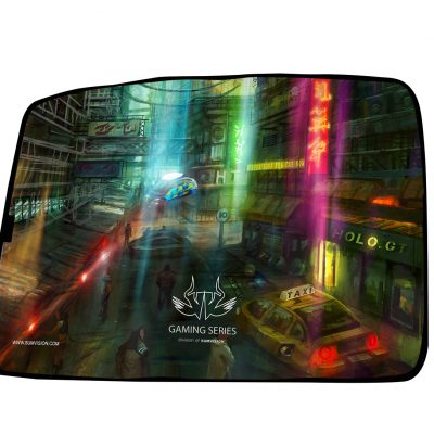 Futuristic Neon Gaming Mouse Mat, Medium