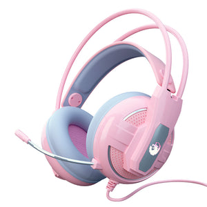 Yulass Wired Gaming Headset, Pink