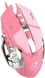Pink Wired Gaming Mouse