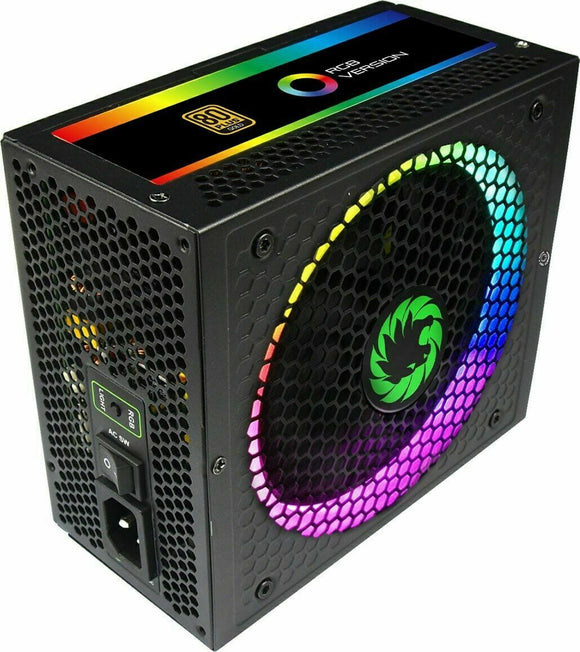 Game Max 1050W Modular Gaming PSU RGB LED Fan PCI-E