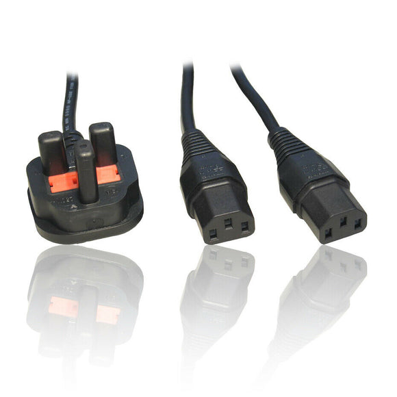 Y-Splitter Mains Kettle Plug Cable