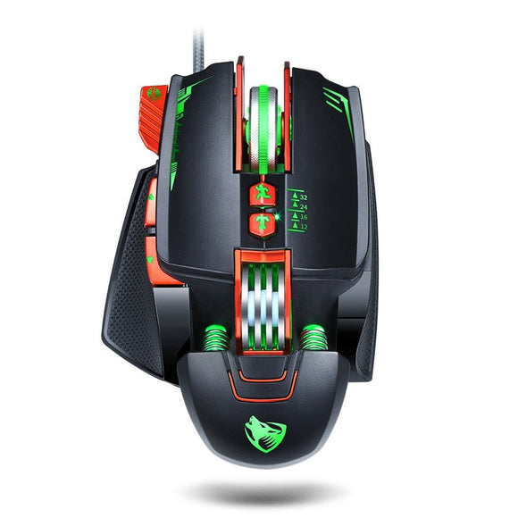T-Wolf V9 Wired LED Gaming Mouse, Black