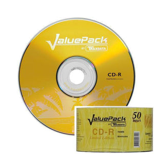 Traxdata Branded 52x CD-R (50 Pack)