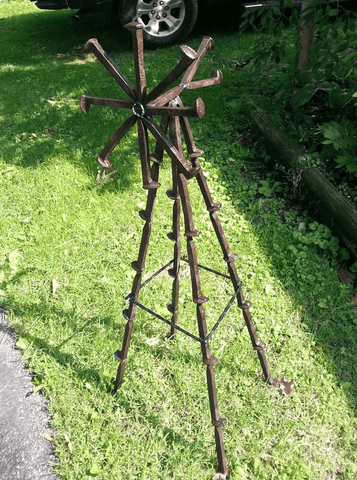4ft Windmill from Railroad Spikes