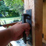 Railroad Spike Door Handle - BlackflagSteel
