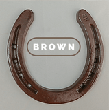Horseshoe towel rack