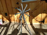 3ft Handmade Rustic Windmill from Railroad Spikes