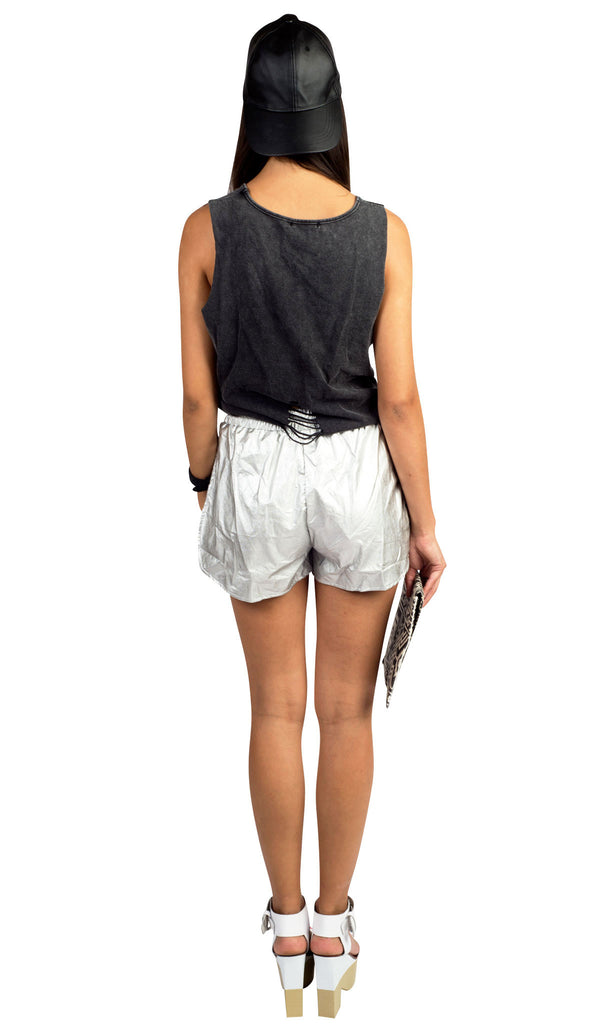 Metal High Wave Shorts