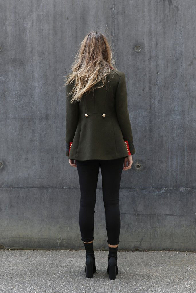 Buckingham Military Coat - Khaki