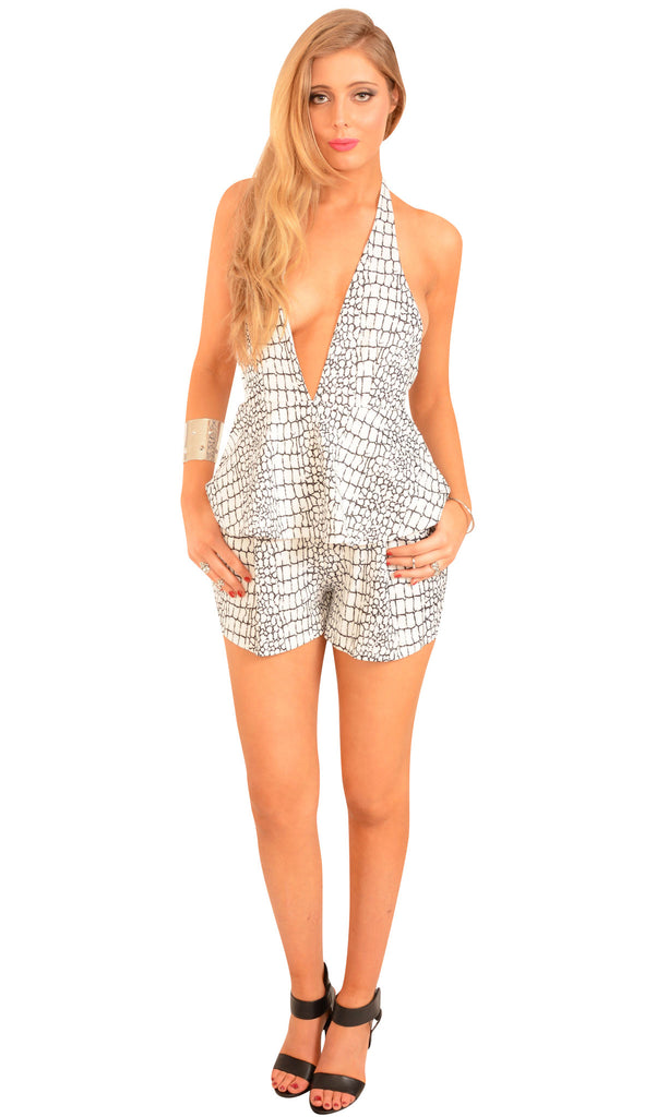 Cracked Heart Playsuit
