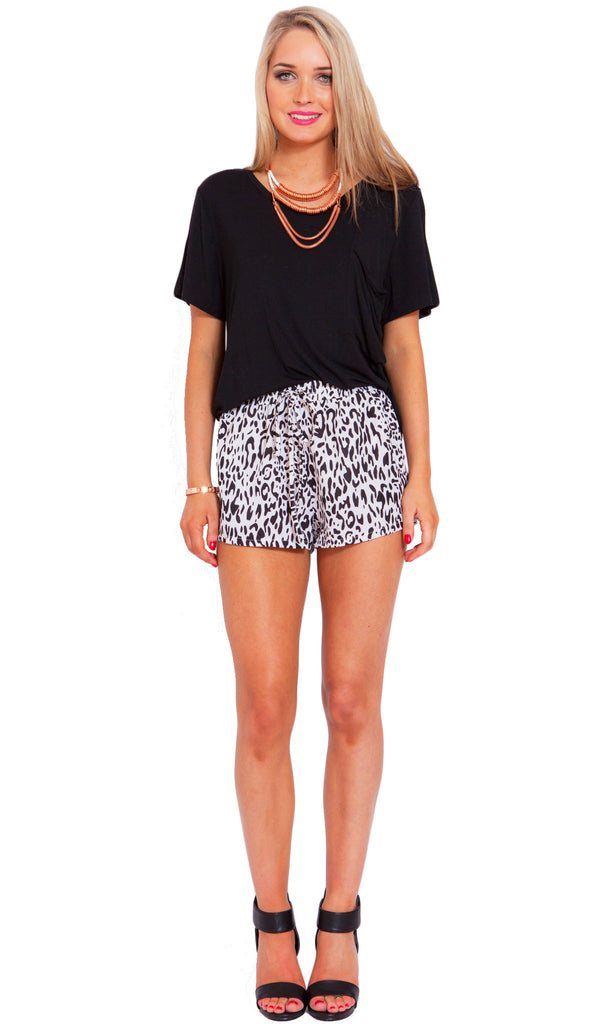 Snow Leopard Shorts