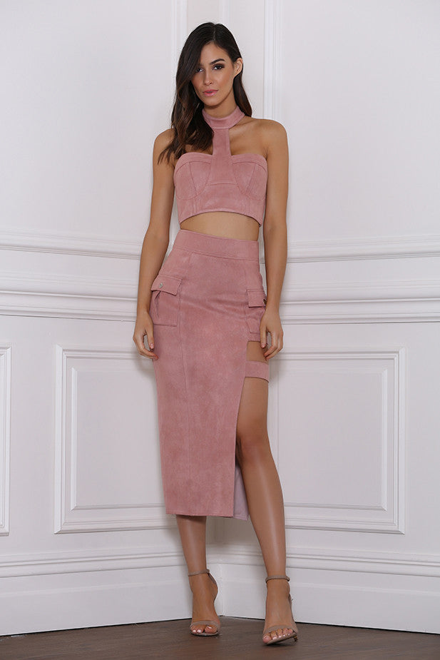 Beyonce Suede Skirt