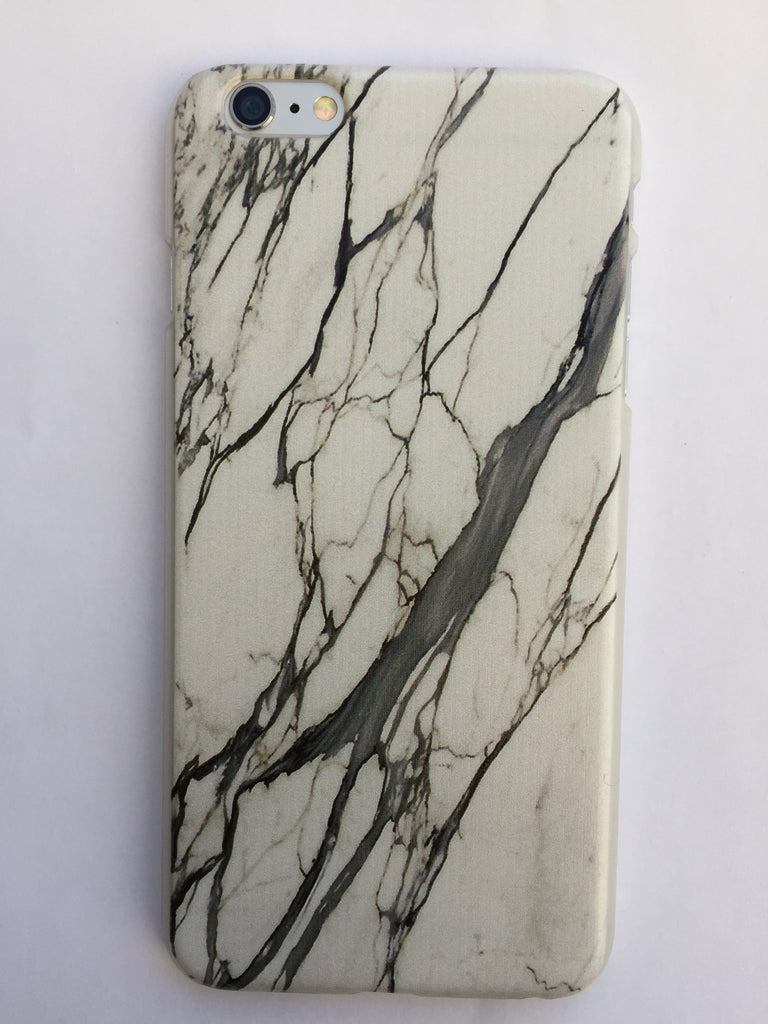 Marble iphone cover in white - 6 Plus