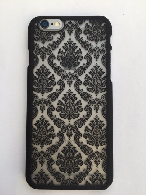 Vintage Lace iphone cover in black - 6/6S