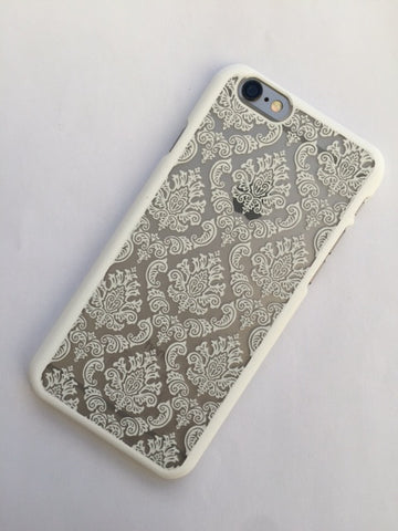 Vintage Lace iPhone cover in white - 6/6S